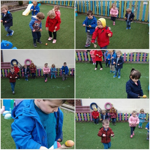 how to play the egg and spoon race